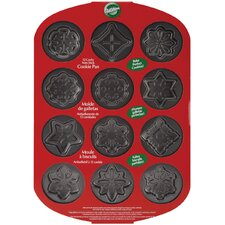 Non-Stick 12 Cavity Snowflakes Baking Sheet