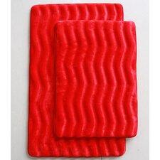 Wave 2 Piece Bath Mat Set