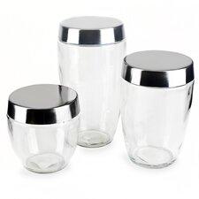 Blue Harbor 3-Piece Conical Glass Jar Set