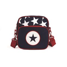 Navy Star Messenger Bag