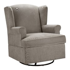 Baby Relax Swivel Glider in Dark Taupe