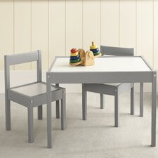 Hunter Kids 3 Piece Rectangular Table and Chair Set