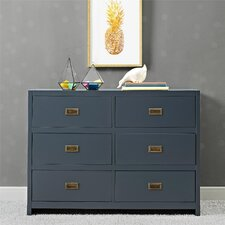 Miles 6 Drawer Double Dresser