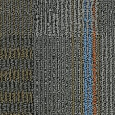 "Hollytex Modular En Route 24"" x 24"" Carpet Tile in Lane Change"