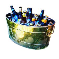 Armored Stainless Steel Beverage Tub