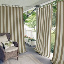 Highland Stripe Outdoor Single Curtain Panel