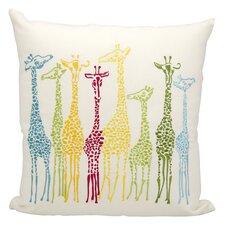 Giraffe Outdoor Throw Pillow