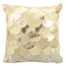 Natural Leather and Hide Balloons Natural hair on Hide Throw Pillow