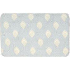 Ultra Comfort Bath Light Blue/Cream Area Rug