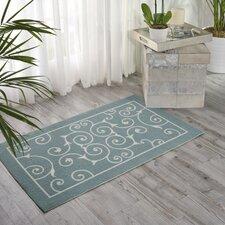 Home & Garden Light Blue Indoor/Outdoor Area Rug