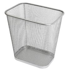 Steel Mesh Rectangular Open Top Waste Basket