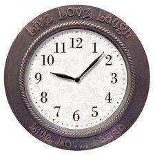 "'Live Love Laugh' Inspirational 11"" Wall Clock"