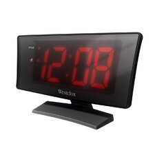 """1.8"""" Curved LED Electric Alarm Clock"""