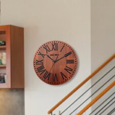 """12"""" Solid Wood Branded Wall Clock"""