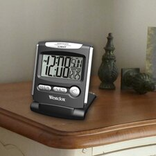 Fold Up Travel LCD Alarm Clock