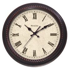 """20"""" Round Marbled Case Roman Numeral Wall Clock"""