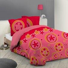 Bettbezug Sixties Flowers Hippie aus reiner Baumwolle