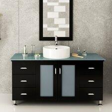 "Grand Lune 47"" Single Vessel Modern Bathroom Vanity Set"