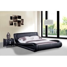 Dona Faux Leather Modern Bed