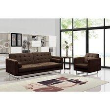 Dona Fabric Modern Sofa and Chair Set