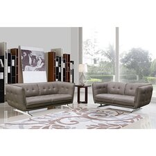 Clair Fabric 2-piece Sofa and Loveseat Set