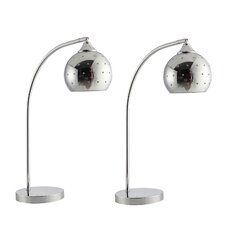 "Modern Minimalist 25"" H Table Lamp with Dome Shade (Set of 2)"
