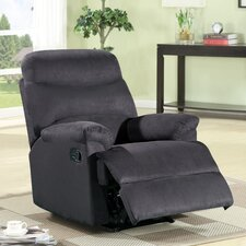 Contemporary Microfiber Recliner