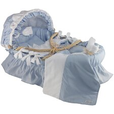 Egyptian-Quality Cotton Moses Basket Bedding Set With Canopy