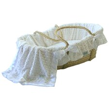 Moses Basket With Minky Dot Bedding