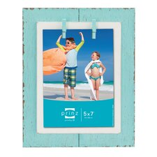 Beach Brights Distressed Plank with Clothespins Wooden Picture Frame