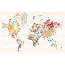 Deco Panel Schablone der Welt - 60 x 90 cm