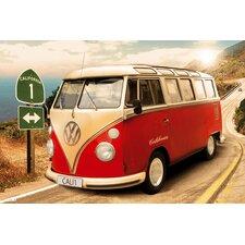 Wandbild Volkswagen Bulli T1 Californien Route 1 Grafikdruck