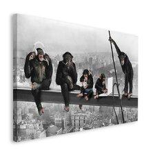 Deco Block 'Schimpansen auf Balken', Bilddruck