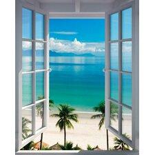 Deco Panel 'Strand Fenster', Fotodruck