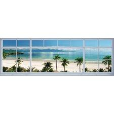 Deco Panel 'Strand Fenster Panorama', Fotodruck
