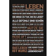 Deco Panel Dies ist dein Leben..., Typografische Kunst