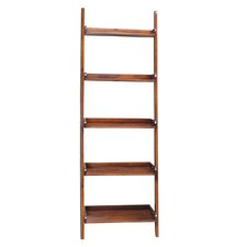 "Casual Dining 75.5"" Leaning Bookcase"