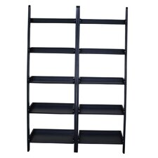 "75.5"" Leaning Bookcase (Set of 2)"