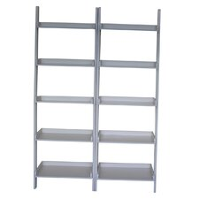 """75.5"""" Leaning Bookcase (Set of 2)"""