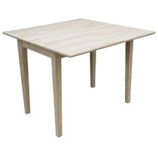 Dining Table with Dual Drop Leaf