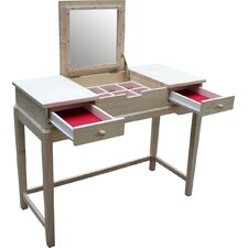 Unfinished Vanity Set with Mirror