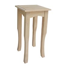 Tall Wood End Table
