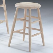 "Unfinished Wood 24"" Bar Stool"