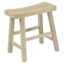 """Unfinished Wood 18"""" Bar Stool"""