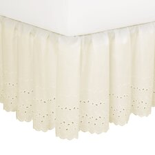 Nayara Eyelet 180 Thread Count Bed Skirt