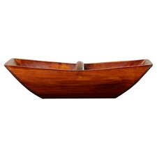 Wooden Boat Tray with Arched Handle