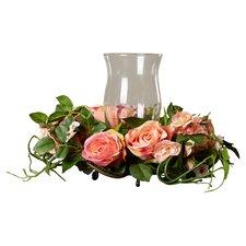 Phoebe Silk Rose Arrangement Candleholder