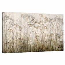 Wildflowers Ivory Painting Print on Canvas