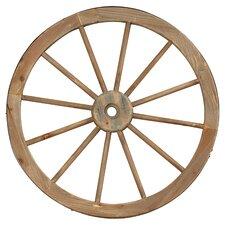 Metal Wagon Wheel Statue