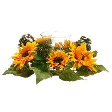 Higgston Sunflower Centerpiecewith Candleholder